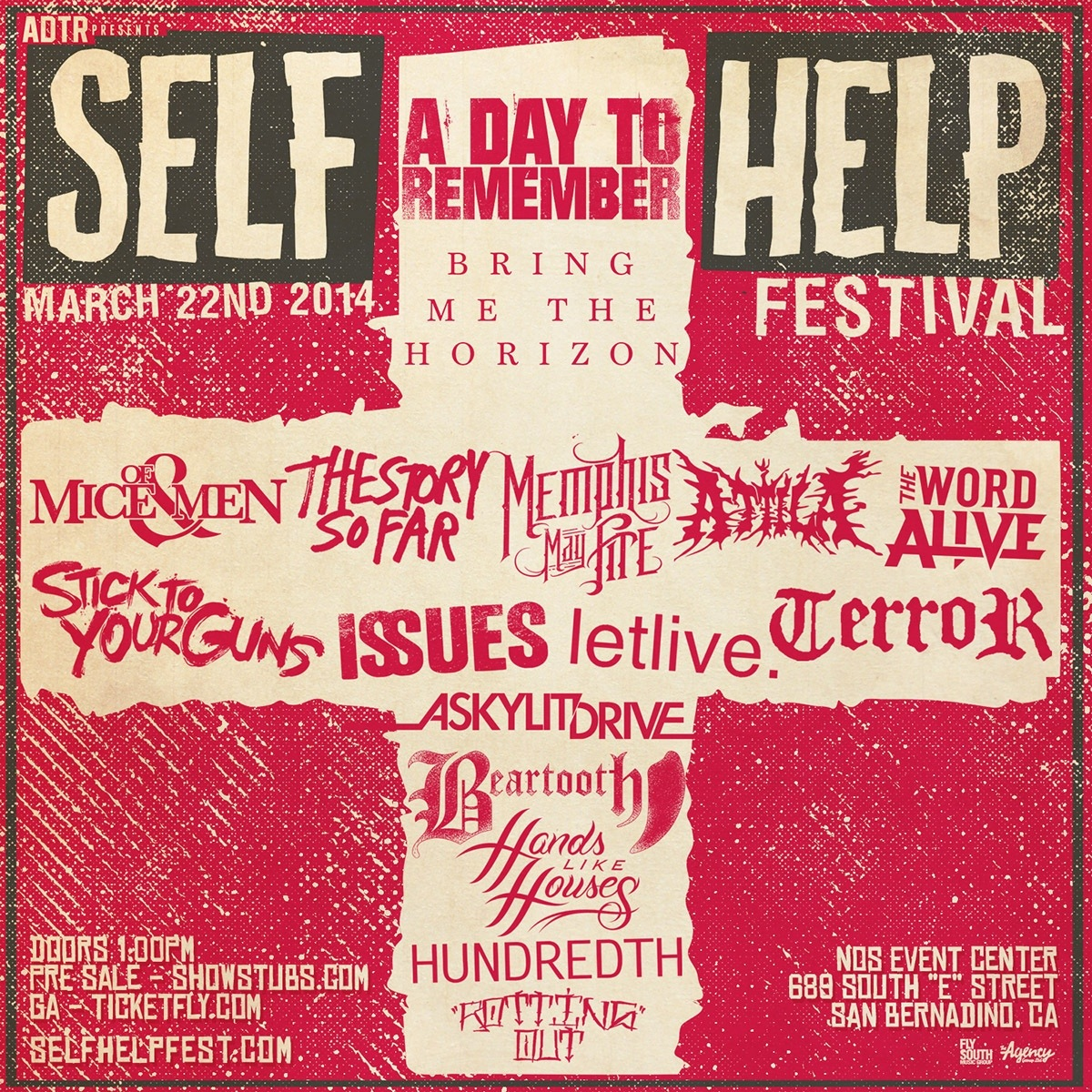 A Day To Remember Self Help Tour Tickets