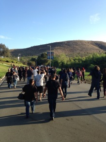 Heading to the amphitheater